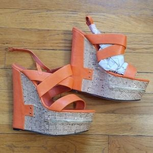 NEW Sz 10 cork wedge sandal